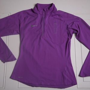 Nike half zip Purple
